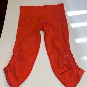 Lululemon Crop Leggings Coral Red